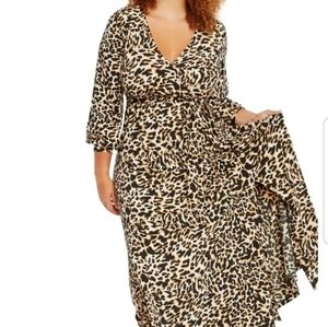 Eloquii animal print maxi dress 16